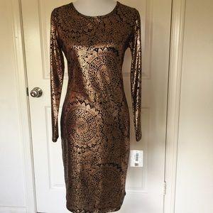 LuLaRoe Long Sleeve Debbie Evening Dress Medium